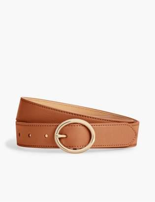 Talbots Plus Size Soft Pebble Leather Belt