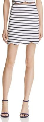 AQUA Scalloped-Hem A-Line Skirt - 100% Exclusive $58 thestylecure.com