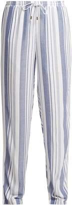 Melissa Odabash Kelly striped wide-leg trousers