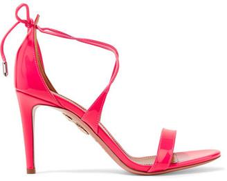Aquazzura - Linda Patent-leather Sandals - Pink $675 thestylecure.com