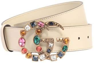 Gucci 40mm Gg Marmont Multicolor Buckle Belt