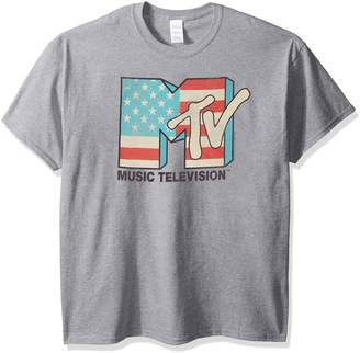 12232cbc7 Nickelodeon Men's American Logo T-Shirt, Sport Grey, ...