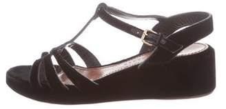 Marc Jacobs Velvet Wedge Sandals