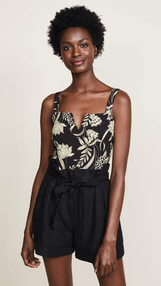 Free People Pippa V-Wire Printed Bodysuit