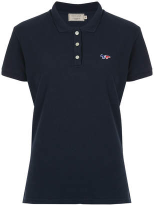 MAISON KITSUNÉ logo patch polo shirt