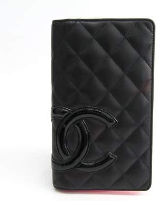 80b390bc430c Chanel Black Quilted Lambskin Cambon Line Yen Wallet (SHA-18256)