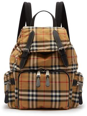 Burberry Vintage Check Canvas Backpack - Womens - Brown Multi