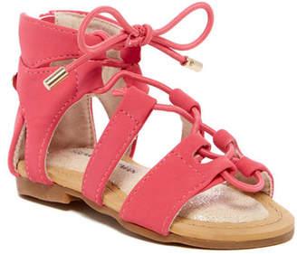 Stuart Weitzman Camia Lace-Up Sandal (Toddler)
