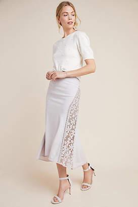 Byron Lars Floral Midi Skirt