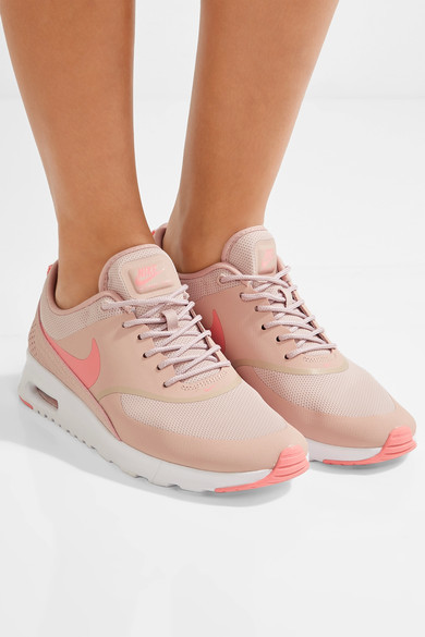 Nike - Air Max Thea Embossed Leather And Mesh Sneakers - Pink 3