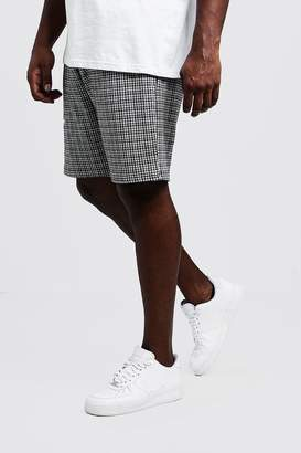 Big & Tall Gingham Mid Length Jersey Shorts