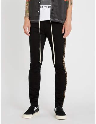 PROFOUND AESTHETIC Metallic side-stripe slim-fit skinny jeans