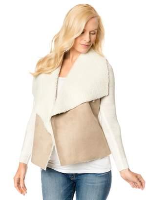 Design History Sherpa Combo Fleece Maternity Jacket