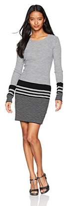 Amy Byer A. Byer Long Sleeve Crew Neck Sweater Dress (Junior's)