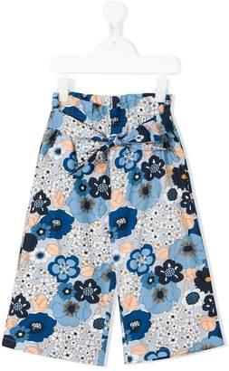Chloé Kids floral wide leg trousers