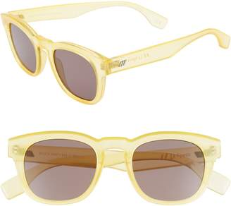 Le Specs Block Party 49mm Round Sunglasses