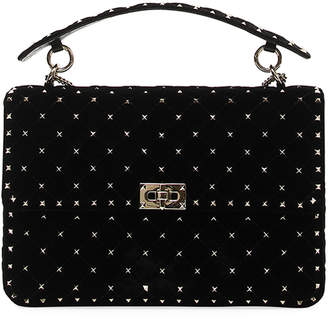 Valentino Spike.It Large Velvet Shoulder Bag
