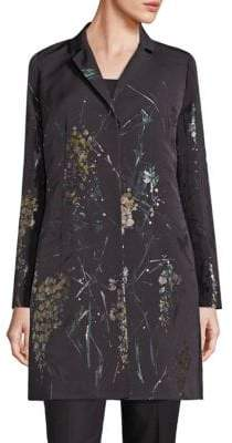 Lafayette 148 New York Guenever Floral Topper Coat