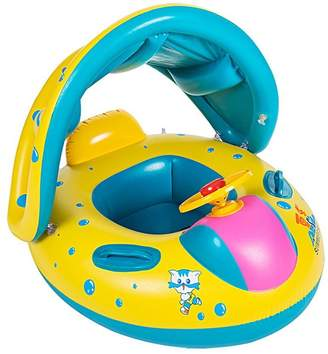 Pool' Missley Baby Swimming Boat Inflatable Sunshade Swimming Pool Fish Airship Floating Toy