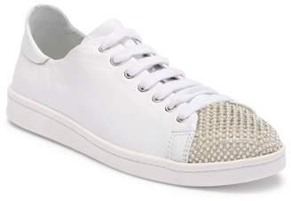Schutz Bena Rhinestone Leather Sneaker