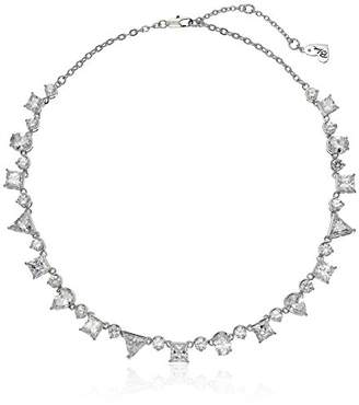 "Betsey Johnson Betsey Blue"" Mixed Cubic Zirconia Stone Collar Necklace"