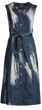 Donna Karan Sleeveless Printed Midi Dress
