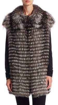 Michael Kors Feathered Fox Vest