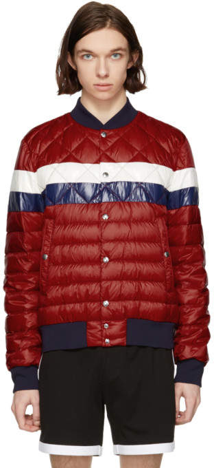 ab2c07bf747b Moncler Red Down Itiner Jacket - ShopStyle