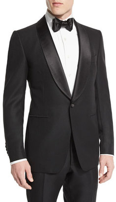 TOM FORD Buckley-Base Solid Tuxedo Jacket, Black $5,460 thestylecure.com