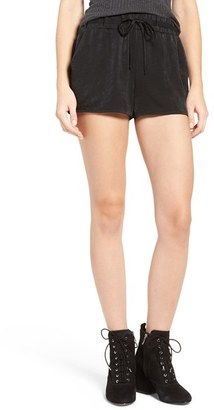 Women's Soprano Satin Drawstring Shorts $35 thestylecure.com