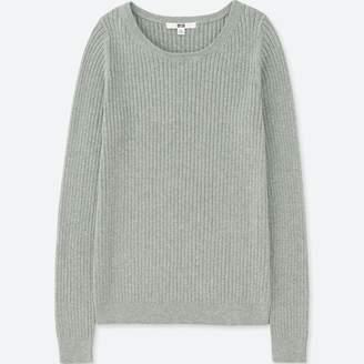 Uniqlo WOMEN Cotton Cashmere Ribbed Sweater