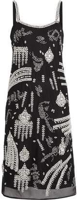 Burberry Crystal-embellished Sheer Slip Dress
