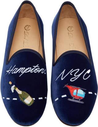 Del Toro x Moda Operandi NYC To Hamptons Velvet Loafers