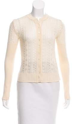 Christian Dior Wool Open Knit Cardigan