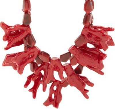 Fenton Crimson Coral Bib Necklace