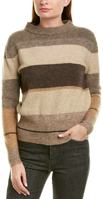James Perse Striped Mohair & Wool-Blend Sweater