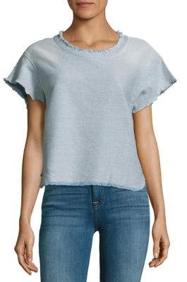 IRO Florie Faded Fringed Top