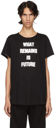 Ann Demeulemeester Black What Remains Is Future T-Shirt