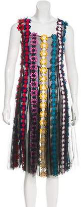 Mary Katrantzou Silk Embroidered Dress