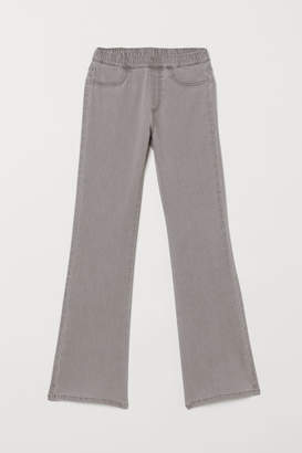 H&M Flared Twill Pants - Gray