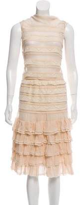 Luisa Beccaria Lace-Trim Chiffon Skirt Set