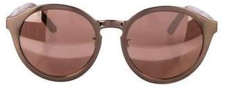 Linda Farrow Metallic Mirrored Sunglasses
