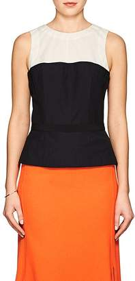 Narciso Rodriguez Women's Crushed Wool Colorblocked Top