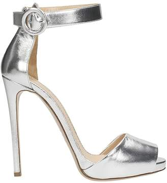 Lerre Silver Calf Leather Sandals