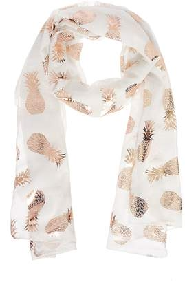 Quiz White Gold Pineapple Scarf