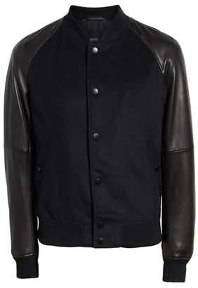BOSS Mavcon Wool & Leather Regular Fit Jacket