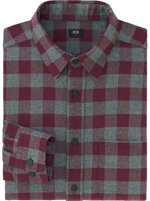 Men Flannel Buffalo Check Long Sleeve Shirt $29.90 thestylecure.com