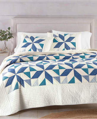 Martha Stewart Collection Sawtooth Star Artisan Twin Quilt