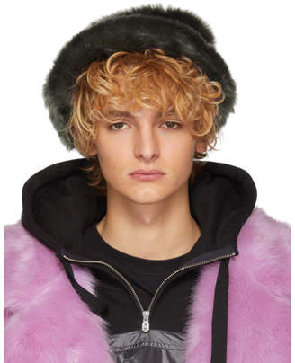 Landlord Grey Faux-Fur Bucket Hat