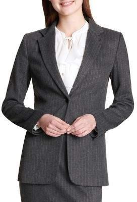 Tommy Hilfiger One-Button Pinstripe Jacket